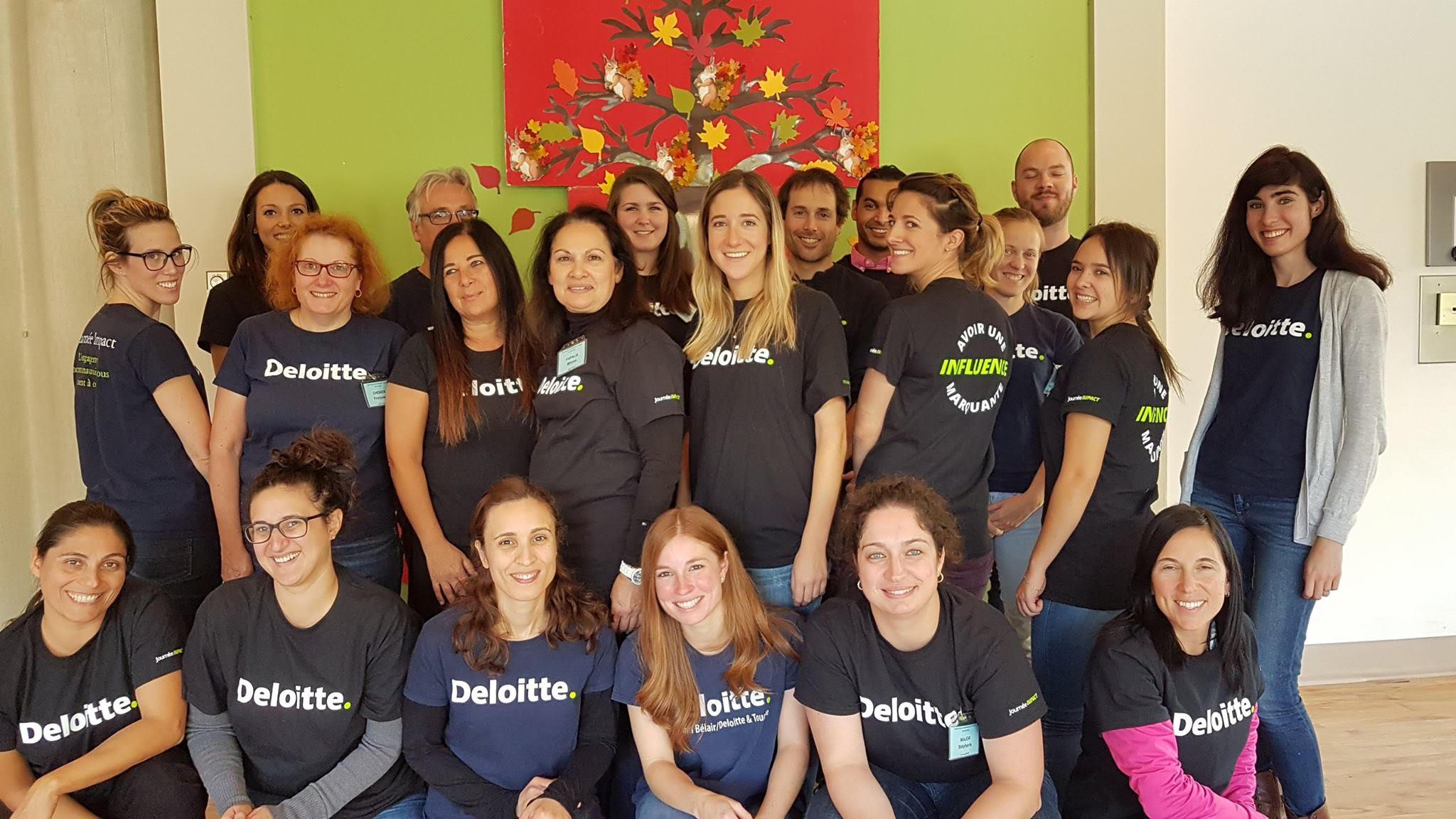 Les employés de Deloitte ont choisi de faire une différence en contribuant à la mission de la Fondation