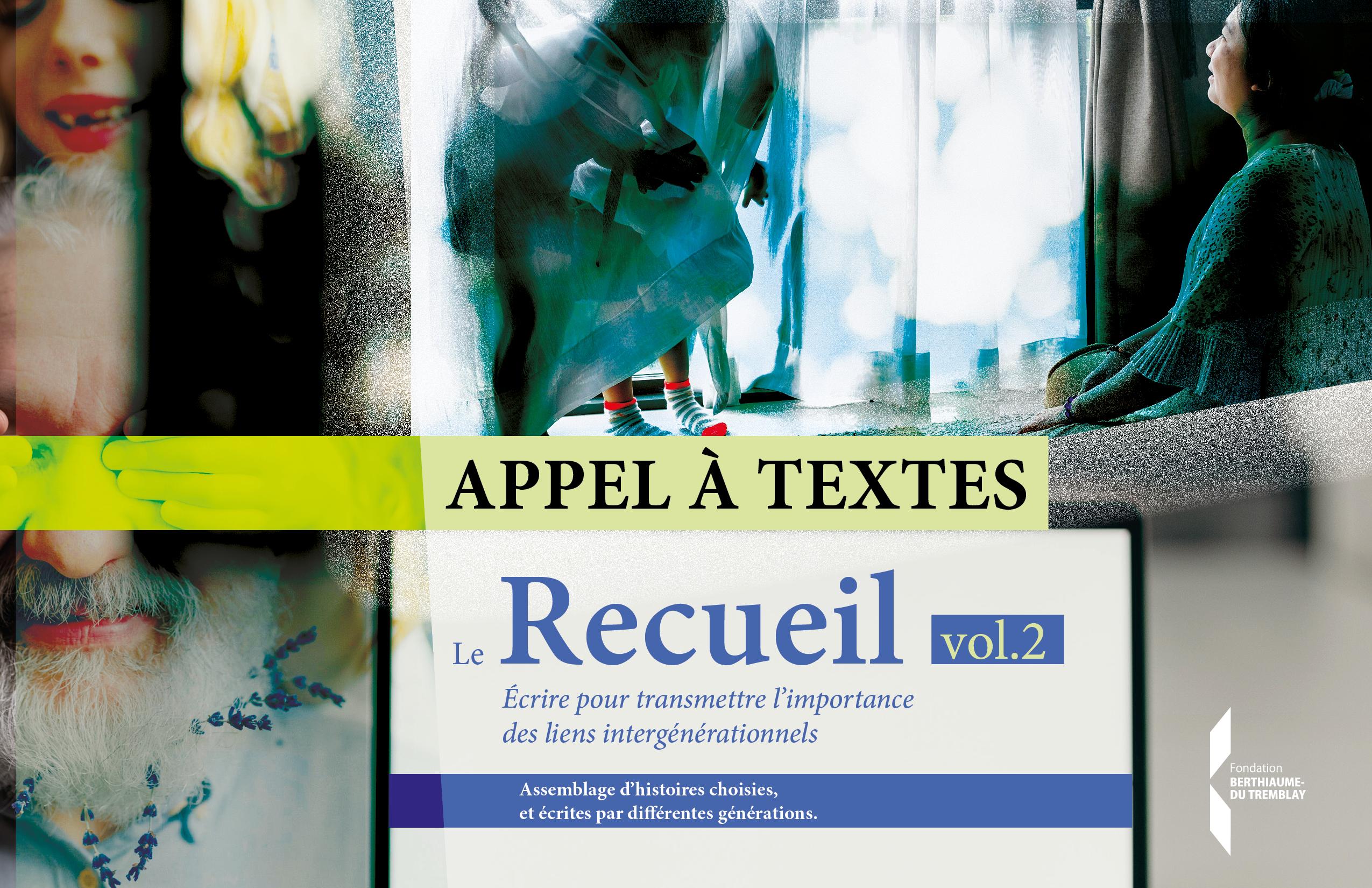 Appel à textes pour la 2e édition du Recueil !
